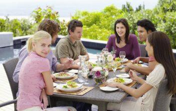 Middag i haven
