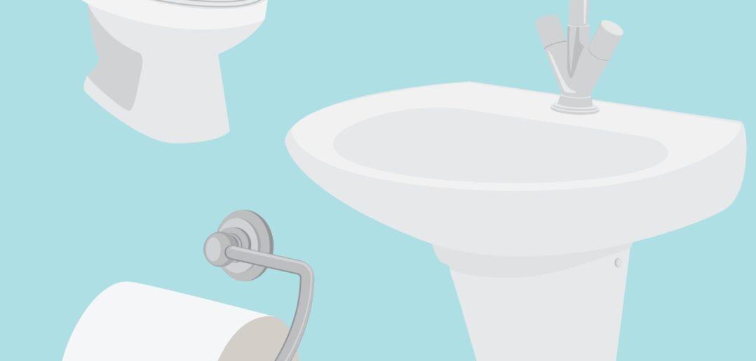 Toilet og håndvask