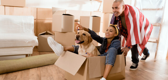 Par flytter med hund