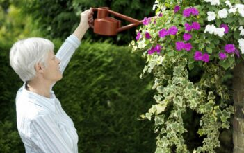 Kvinde vander planter