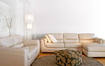 Lys og moderne stue
