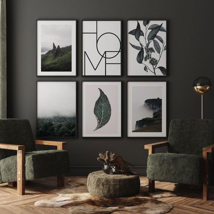Plakater i stuen